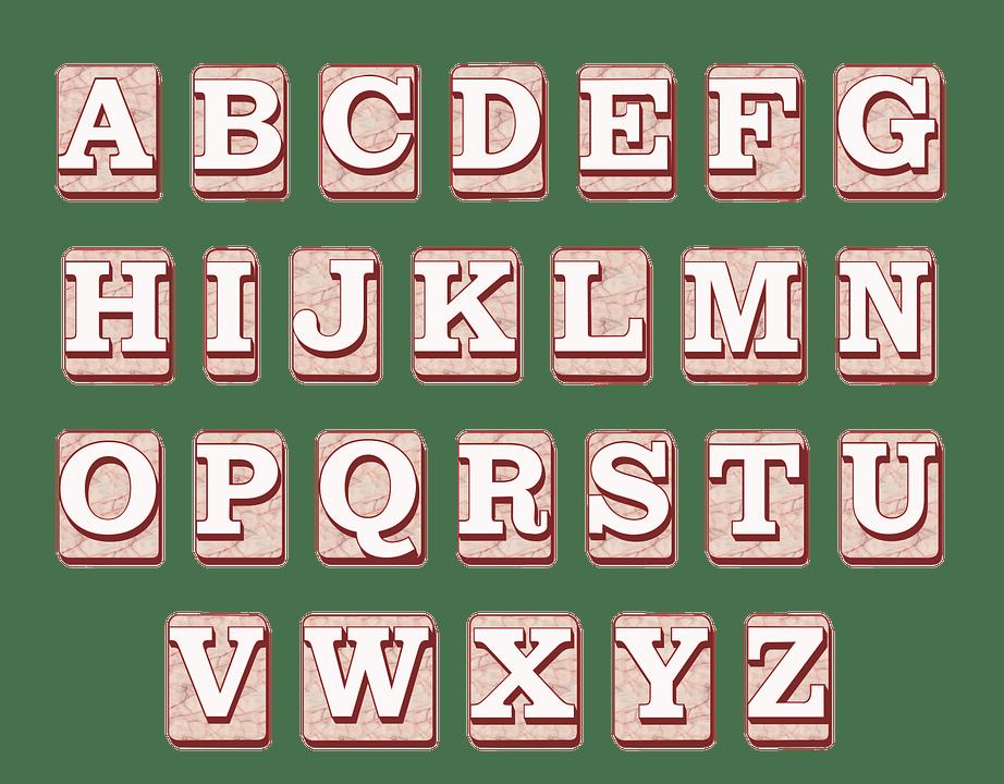 el abecedario en ingles